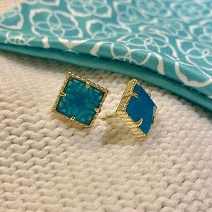 Kendra Scott 'Cleo' Square Stone Stud Earrings